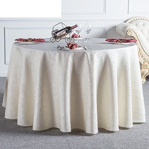 JHT Hotel Tablecloth/Continental Restaurant Table Linen/Home Coffee Table  Round Tablecloth/ Round Tablecloth/ Table Cloth E Diameter240cm(94inch)
