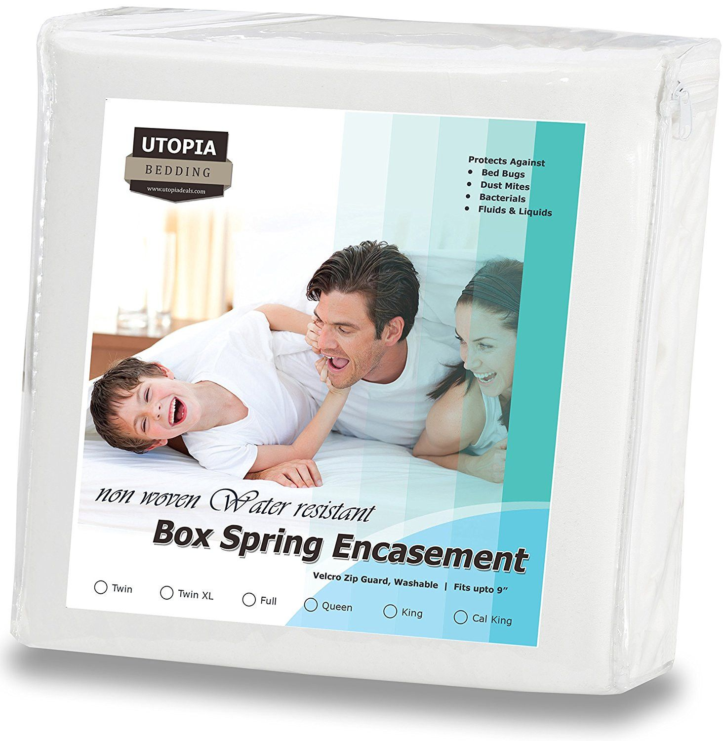 zippered bed bug proof box spring encasement products pinterest