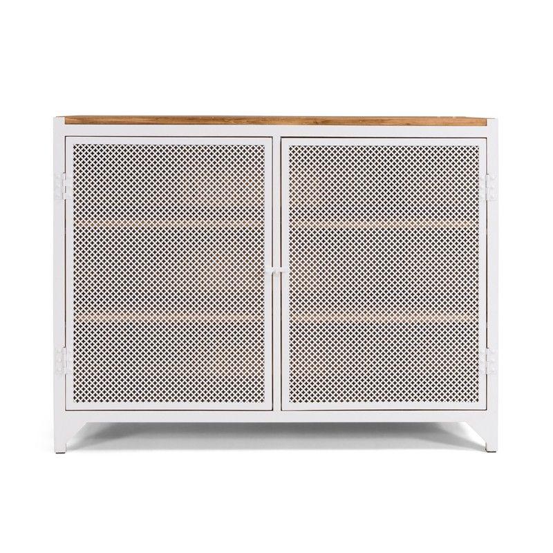 CLOVER Kommode / Sideboard / Weiß / White - NOTORIA
