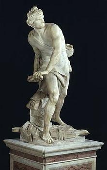 il david di gian lorenzo bernini marmo cm roma galleria  il david di gian lorenzo bernini marmo 170 cm roma galleria borghese