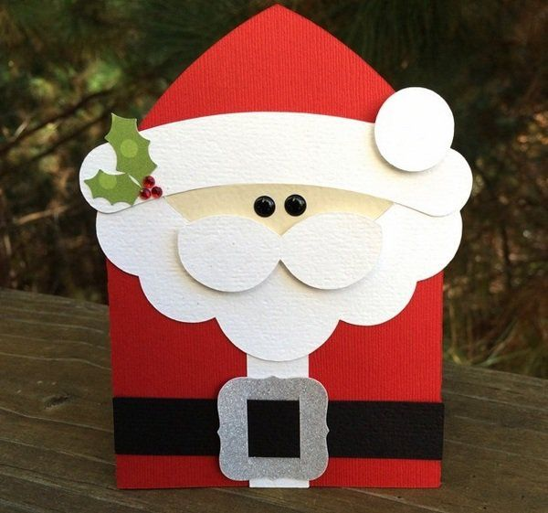 Kids Craft Ideas Christmas Crafts Santa Gift Card Holder Paper
