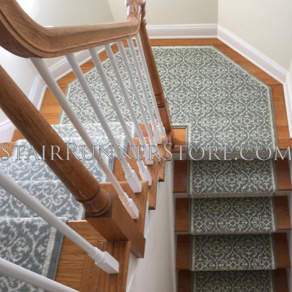 Ansel Stair Runner Carpet Custom Angled Landing Fabrication By | Stair And Hallway Runners | Landing | Stair Treads | Wool | Non Slip | Images Tagged