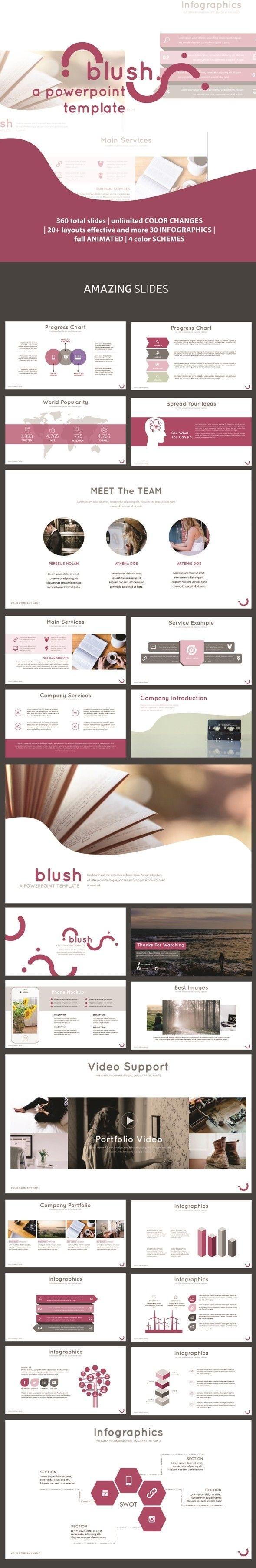 Blush PowerPoint Template