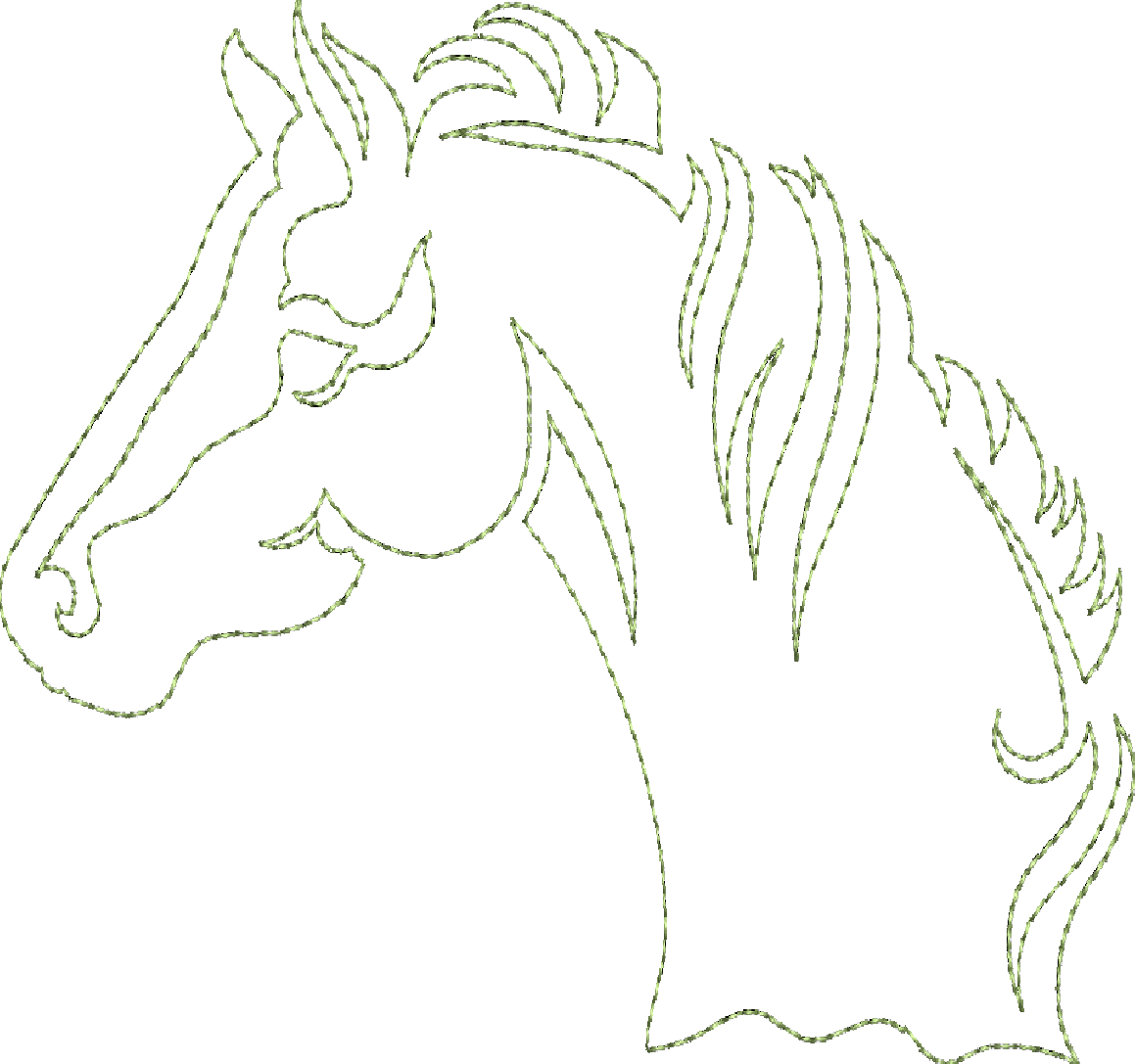Horse Song - Continuous Single Line Quilting   Crafts   Pinterest ...