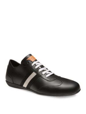 BallyHarlam Leather Bowling Sneakers rrWIFkr