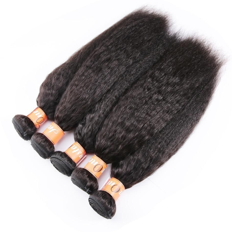 Instaone Malaysian Hair Weave Bundles Kinky Straight Human Hair 28 30 Inch 3/4 Bundles Natural Color Raw Virgin Hair Extension #virginhair