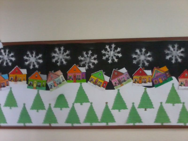 Christmas classroom display photo photo gallery for Porte decorate scuola