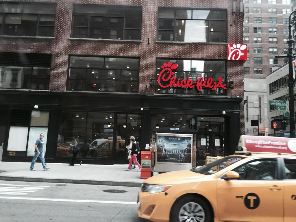 Signage is up @ChickfilANYC, which opens in Manhattan on 10/3 ...