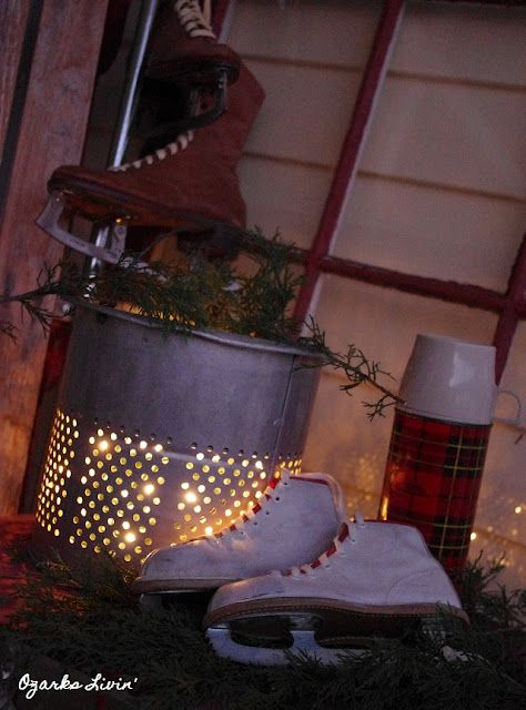 minnow bucket light   Christmas decorations to make, Winter decor, Christmas lodge