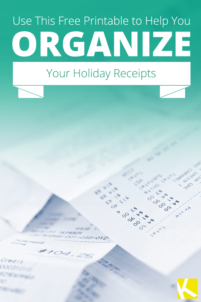 Money Receipts How To Organize Holiday Receipts And Make A Gift List Free .