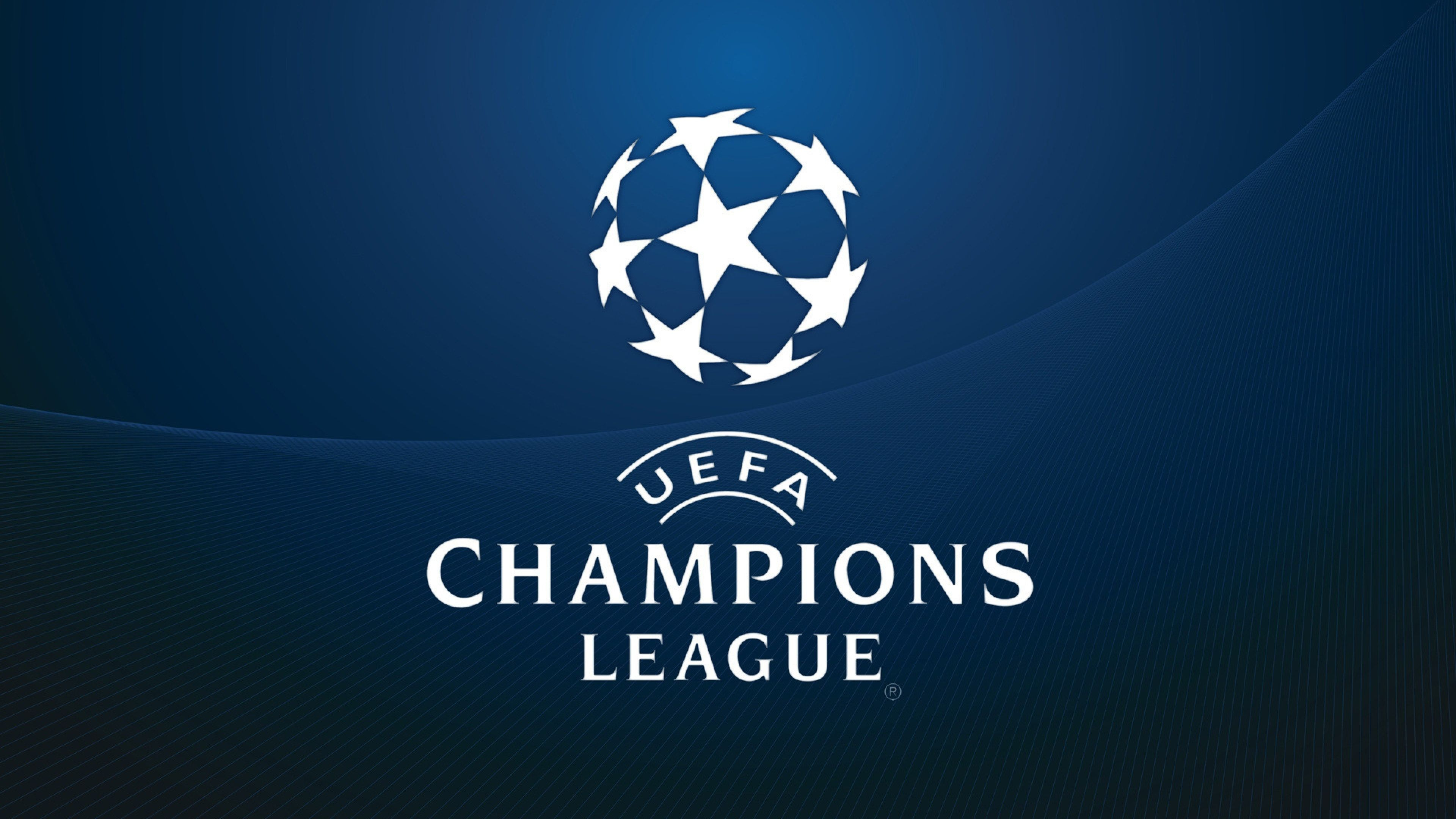 UEFA Champions League Official Wallpaper with Dark Blue