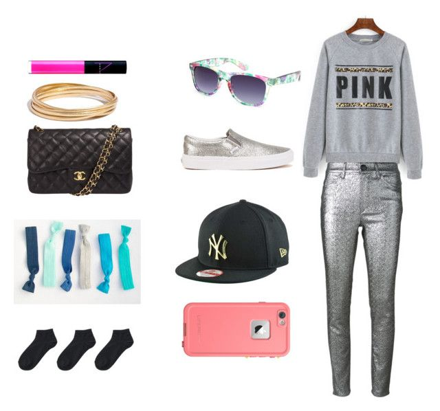 """""""Going to the movie theater"""" by camila-cushman on Polyvore featuring Full Tilt, Isabel Marant, New Era, NARS Cosmetics, Chanel, Madewell, Vans and Uniqlo"""