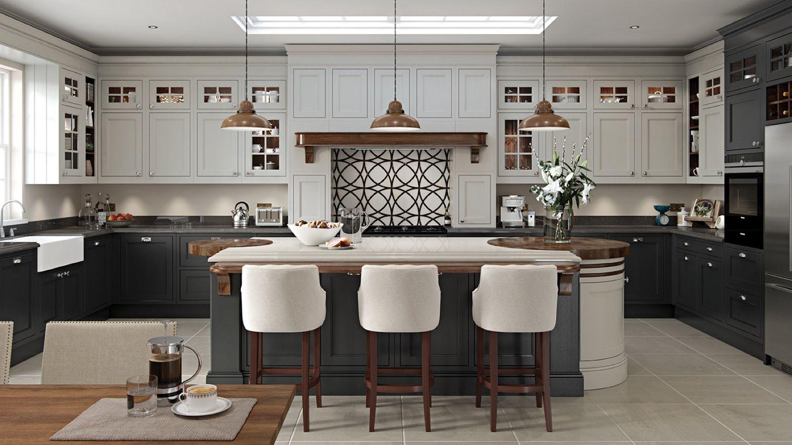 Luxury Graphite Color Kitchen Cabinets