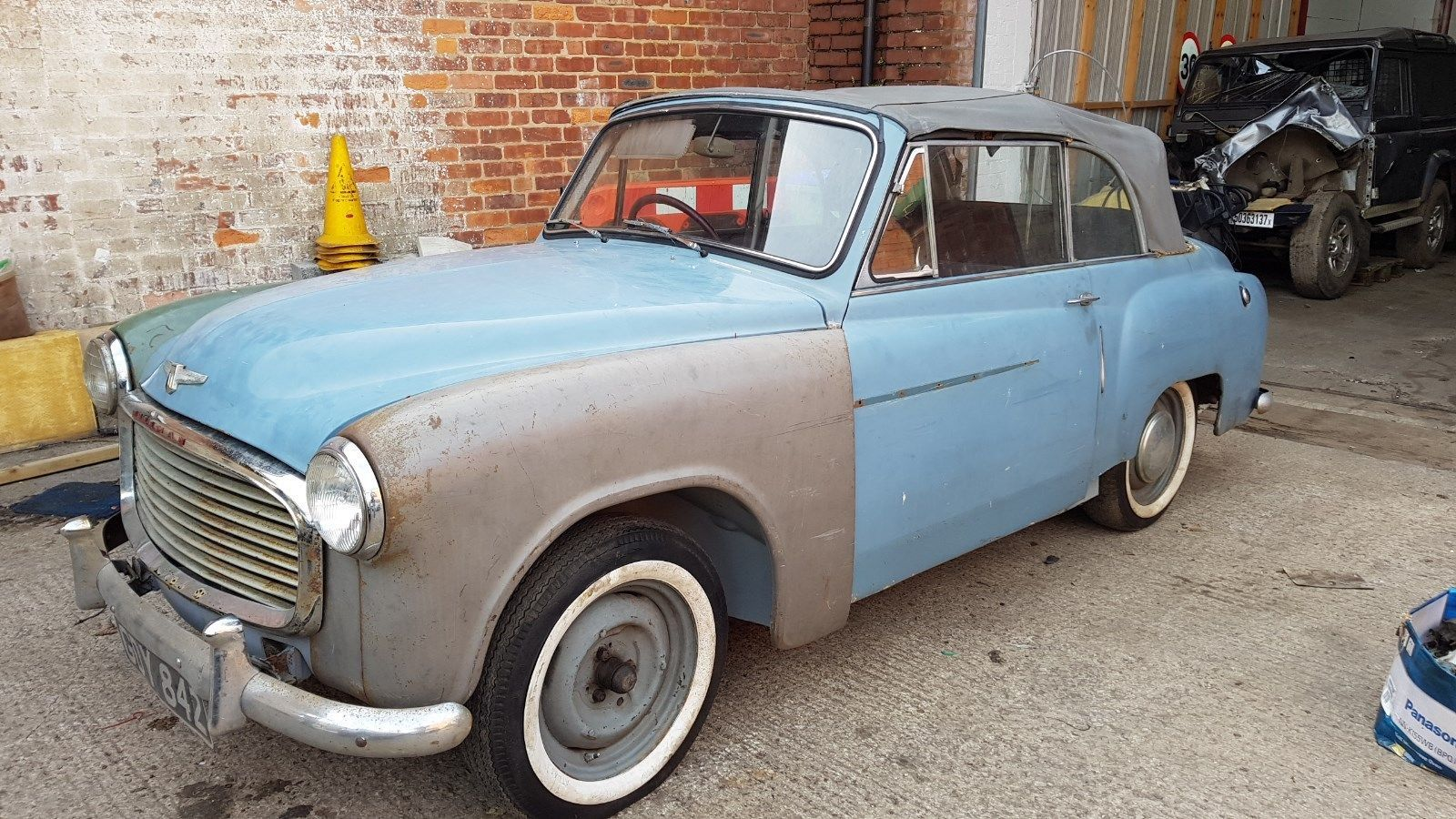 1954 Hillman Minx convertible BARN FIND spares or repair, unfinished ...