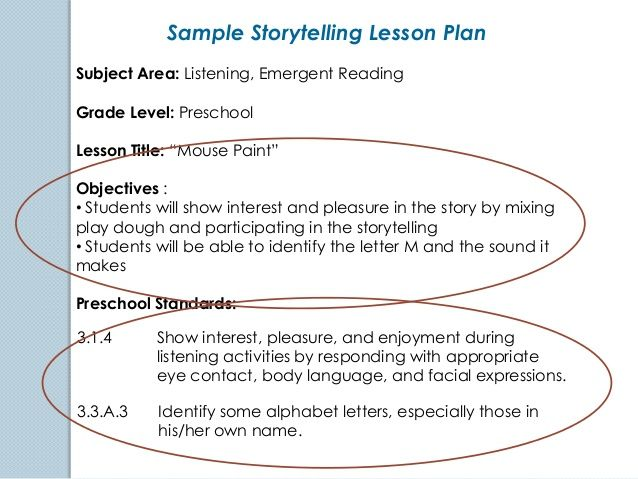 lesson objectives examples - Google Search Childrenu0027s Lit Class - sample preschool lesson plan
