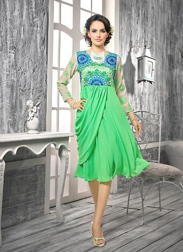 Buy Incredible Umbrella Kurti Style with Resham Work