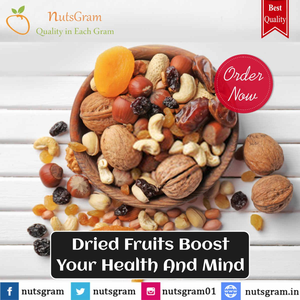 Buy best quality from the most trustable #store at reasonable price in #Delhi India. Order Now at 9278271010 !! #Nutsgram #Dryfruits #HealthyFood #PremiumQuality #Cashews #Almonds #Raisins #Pistachios #Apricots #DriedDates #Cashondelivery