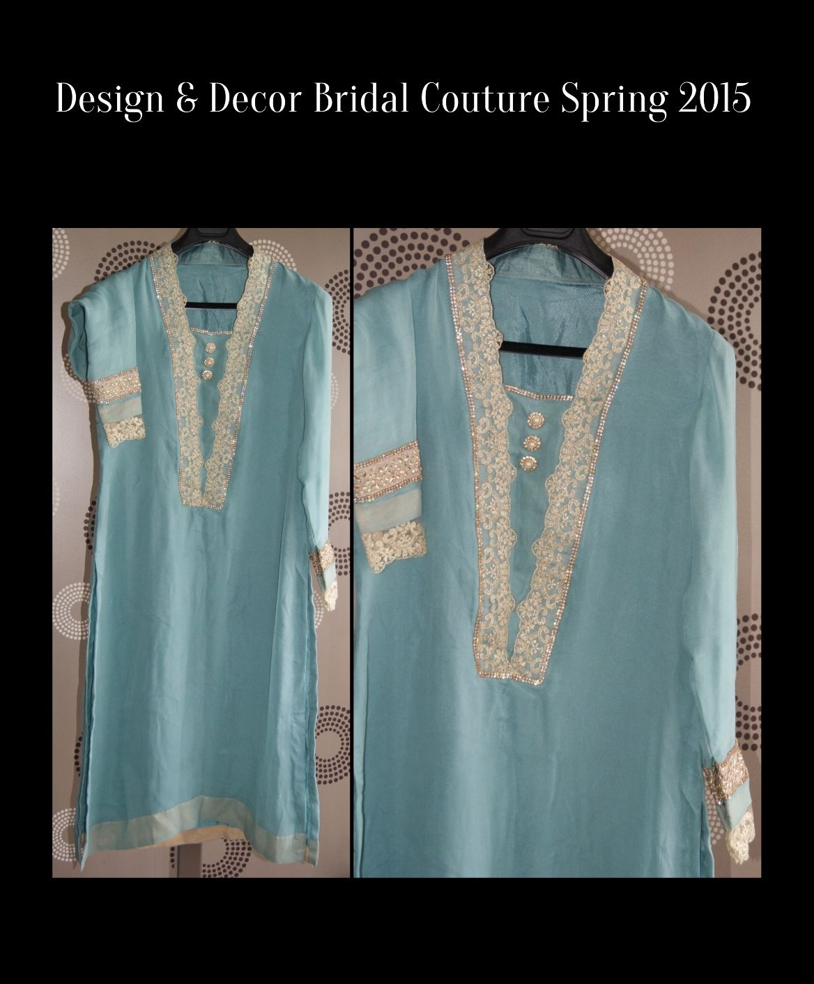 Light Sage Green Suit with Golden Lace and Gold accents. A nice ...
