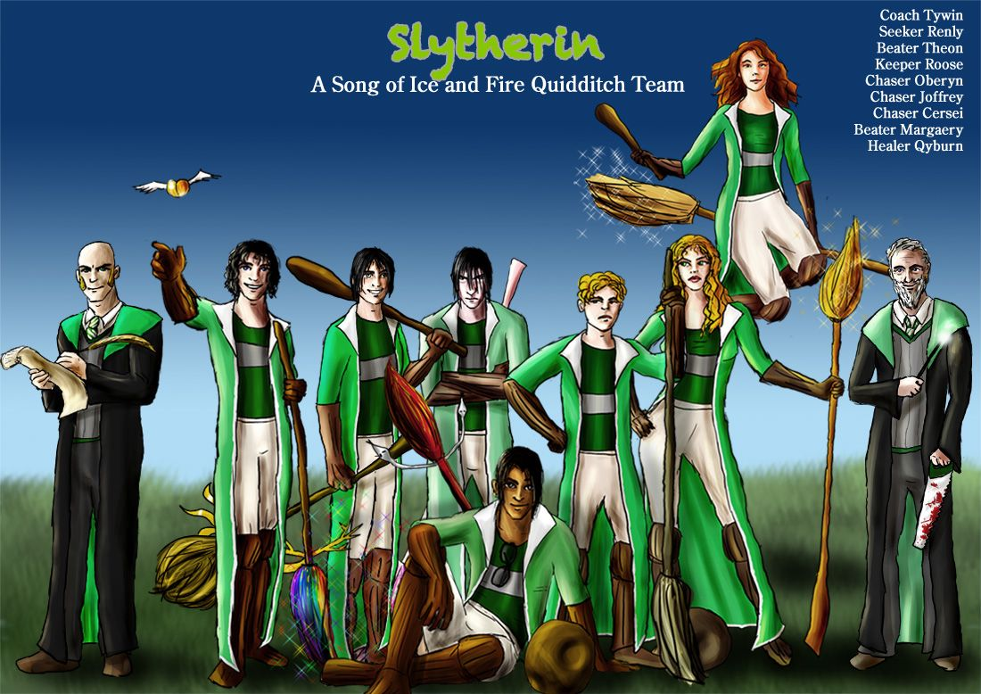 Slytherin Asoiaf Quidditch 2 by ~guad on deviantART #got