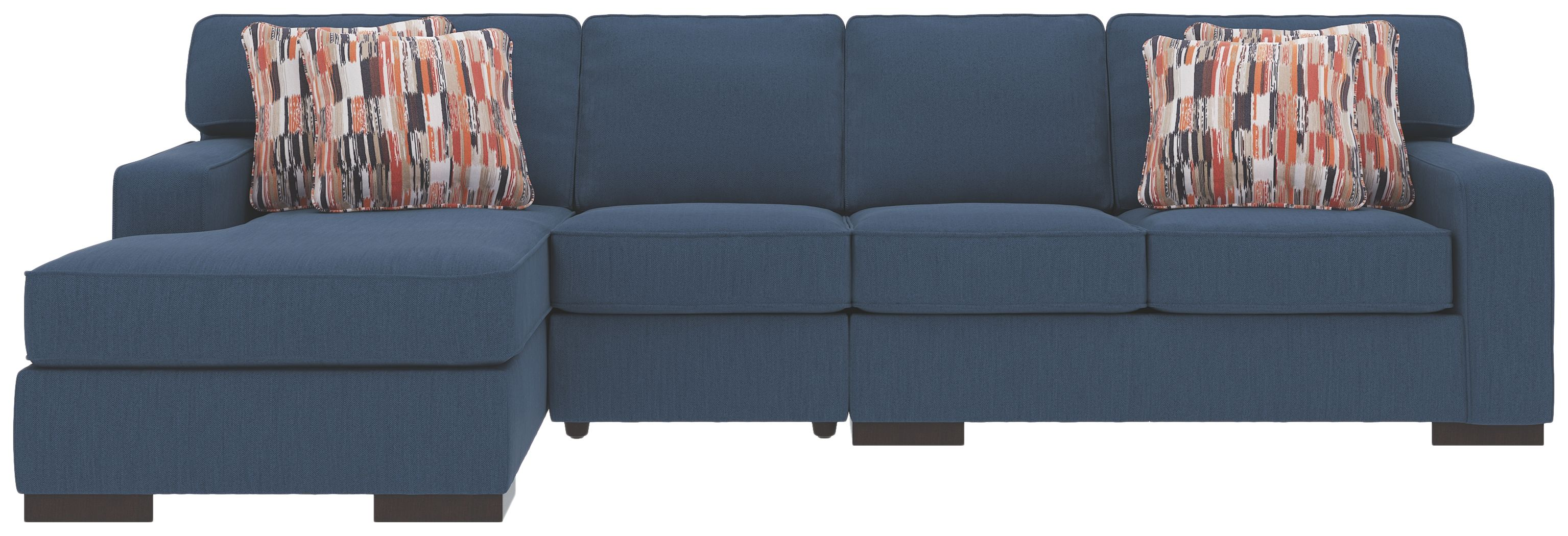 Miraculous Ashlor Nuvella 3 Piece Sectional And Pillows Indigo Ocoug Best Dining Table And Chair Ideas Images Ocougorg