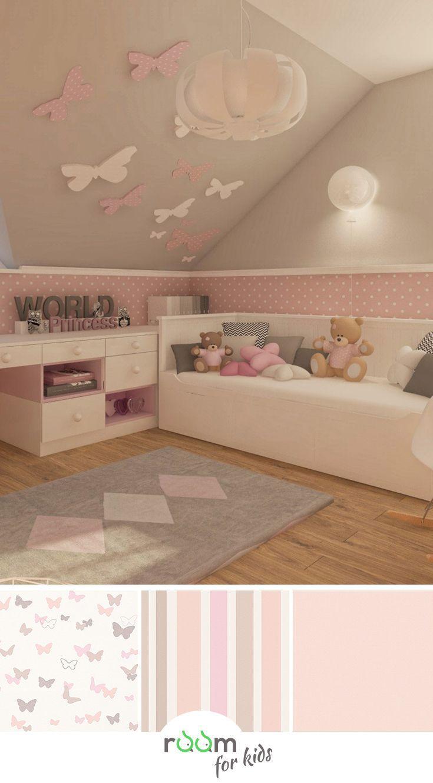 Kinderzimmergestaltung Kindertapete Mädchenzimmer_rosa