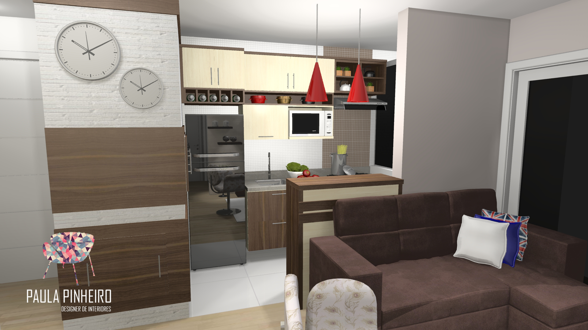 Cozinha Projeto Paula Pinheiro Renderiza O Promob Plus Com  # Muebles Carre Sant Cugat