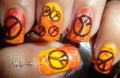 Photo of Bright Orange Peace Nails! by madjennsy  Nail Art Gallery nailartgallery.na