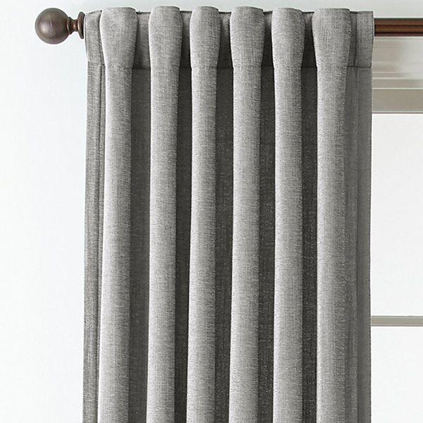 Royal Velvet Luxury Chenille Rod Pocket Back Tab Curtain Panels
