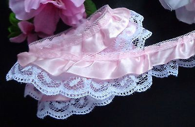 1+1//4 inch wide ivory color  selling by the yard Ruffled Lace