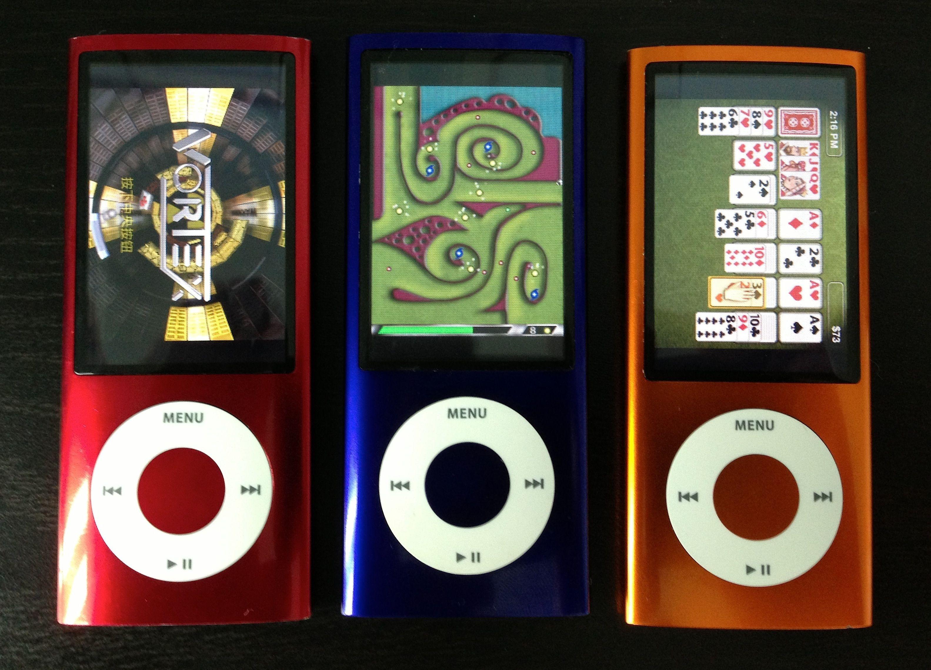 iPod nano 5 in different colors