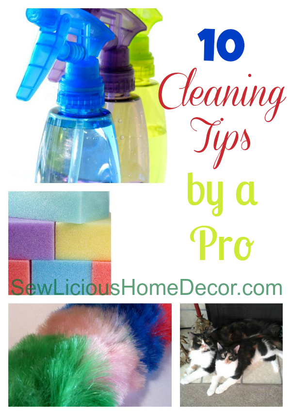 10 Cleaning Tips by a professional cleaning service! SewLiciousHomeDecor.com