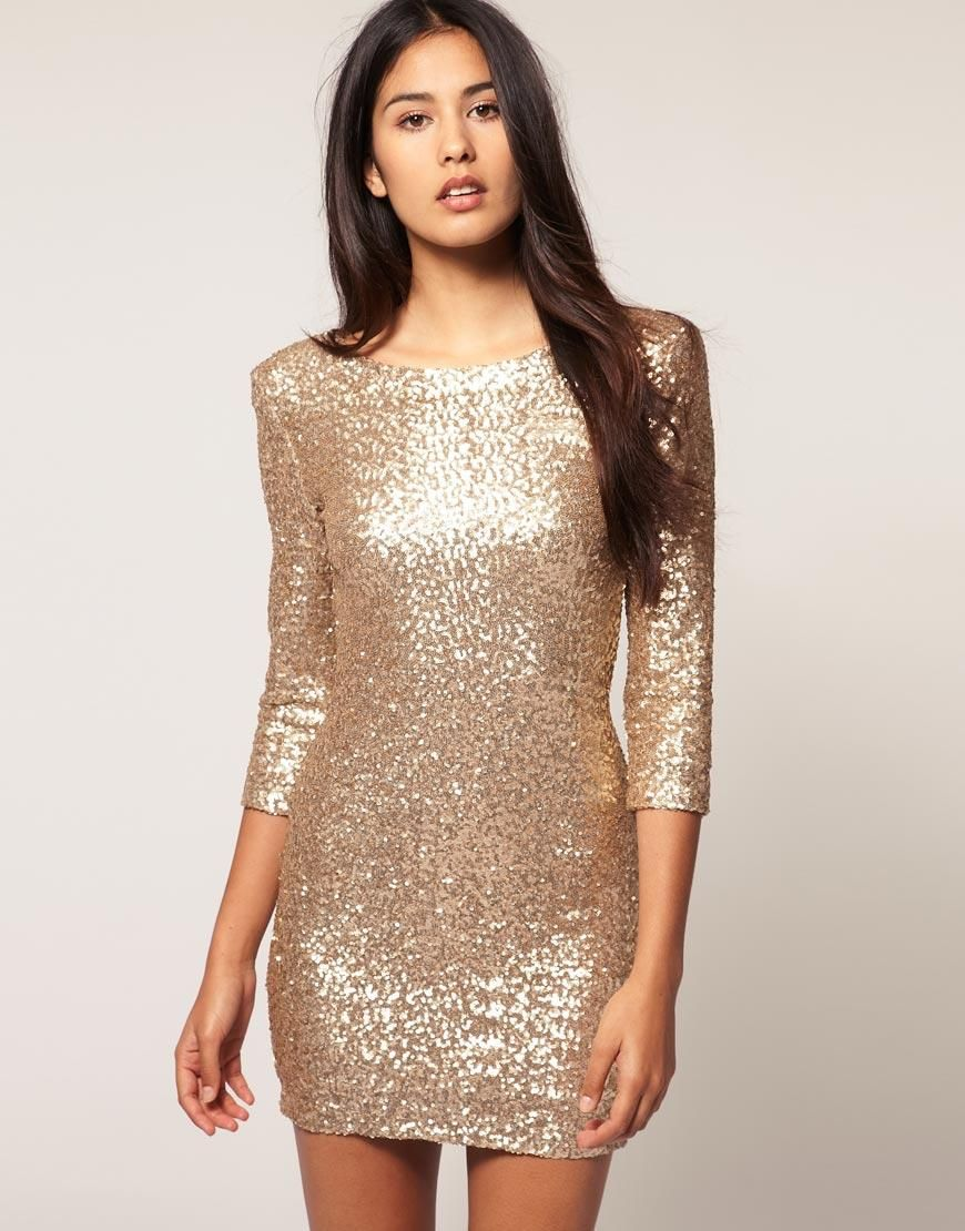 d0609797 TFNC | TFNC Sequin Dress with Long Sleeves at ASOS | Homecoming ...
