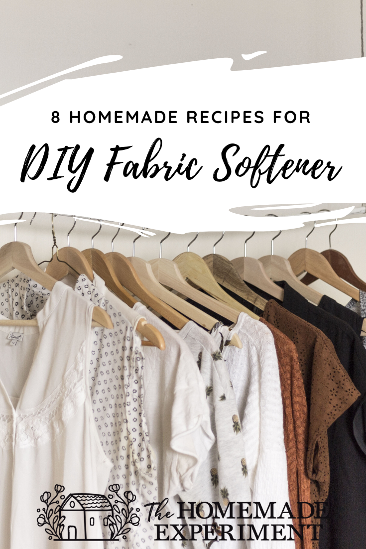 How To Make Your Clothes Smell Good In The Dryer 8 homemade fabric softener recipes | homemade fabric