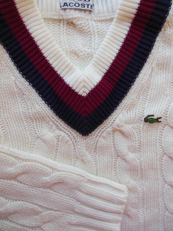 TENNIS SWEATER ... 1960 s IZOD Lacoste Tennis Sweater ... Unisex ... 19887f269