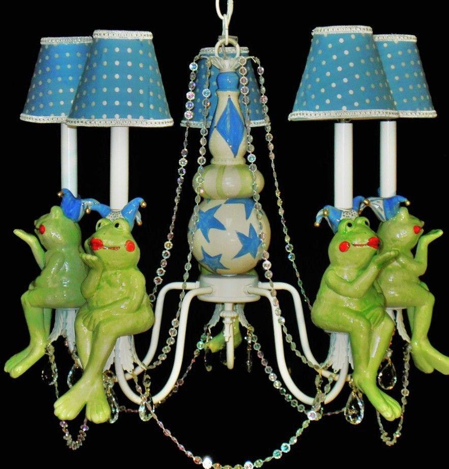 Whimsical frog jester nursery chandelier child lighting 35000 whimsical frog jester nursery chandelier child lighting 35000 via etsy arubaitofo Images