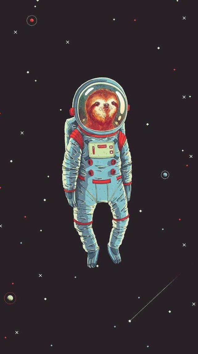 Space Sloth Astronaut Space Art Sloth Art Art