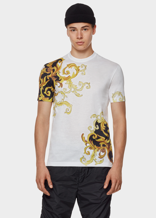 85b4946e369 Versace Men's Clothing - Ready to Wear. VERSACE Cotton Barocco Print  T-shirt. #versace #cloth #cotton barocco print t-shirt