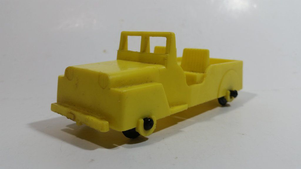 Vintage 1960s Reliable Toys Yellow Jeep Military Army Style Yellow