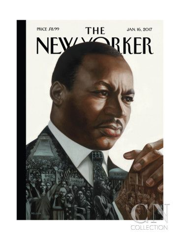 The New Yorker Cover - January 16, 2017 Poster Print by Kadir Nelson at the Condé Nast Collection