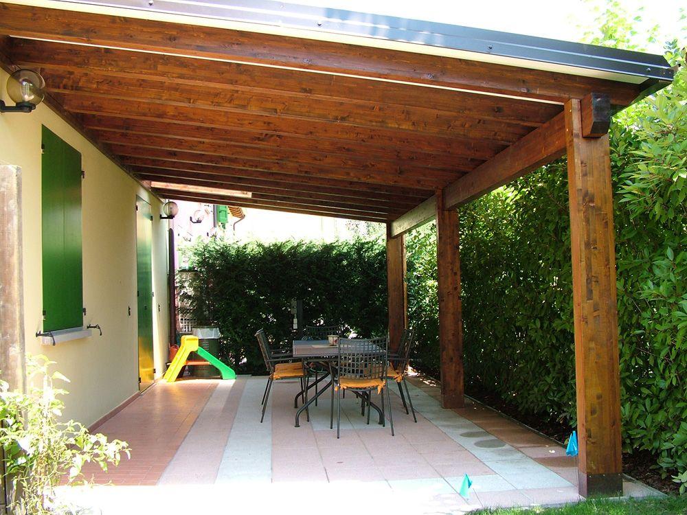 Porticato con colonne ad una falda linea classica for Disegni veranda anteriore
