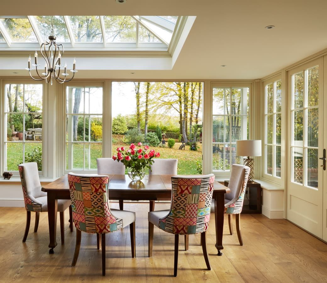 New Kitchen and Dining Room Orangery Westbury gardens
