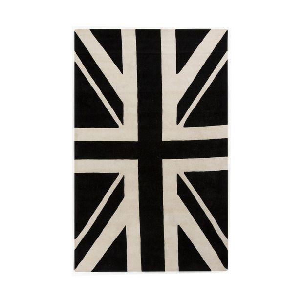 Black Union Jack Rug S T Y L E At H O M