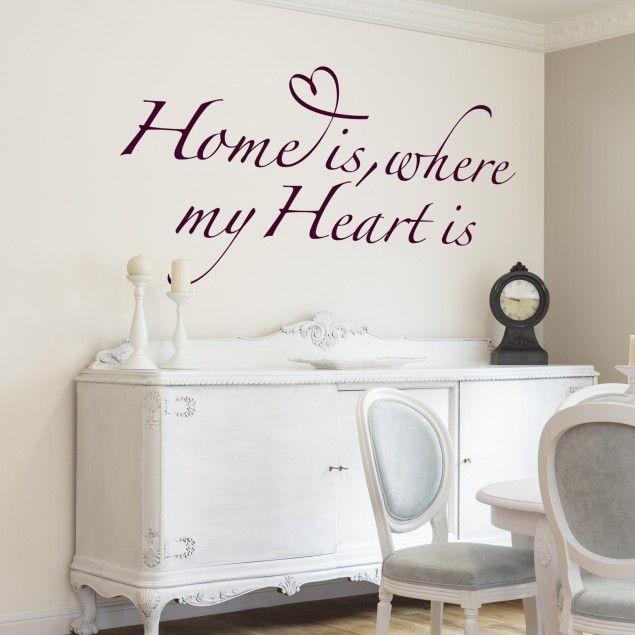 Wandtattoo Sprüche - Wandsprüche NoBR255 home is where my heart is - wandtattoo schlafzimmer sprüche
