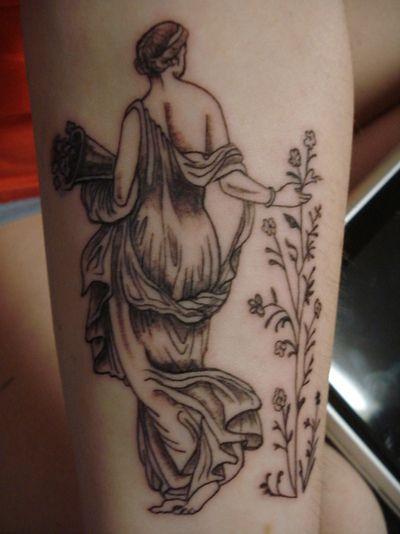 flora greek goddess tattoo pinteres. Black Bedroom Furniture Sets. Home Design Ideas