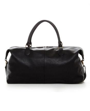 Gunner Vegan Leather Duffle Bag Black S Leather Duffle Bag Leather Duffle Leather Duffle Bag Men