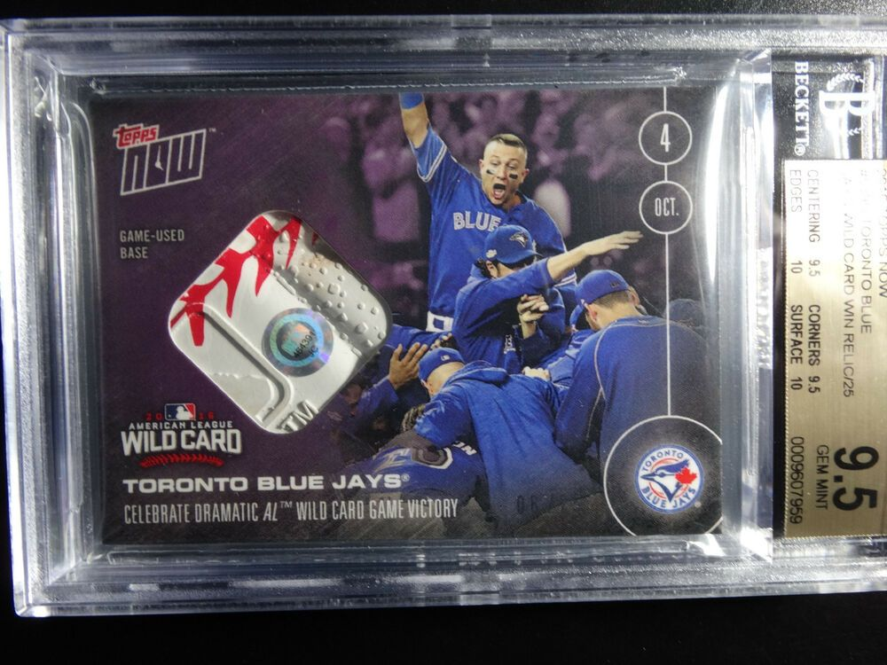2016 Topps Now 539D Blue Jays Wild Card Win 6/25 Game