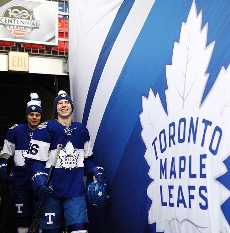 more photos d8526 754a5 NHL - Hockey, Toronto Maple Leafs. Mitch Marner & Auston ...