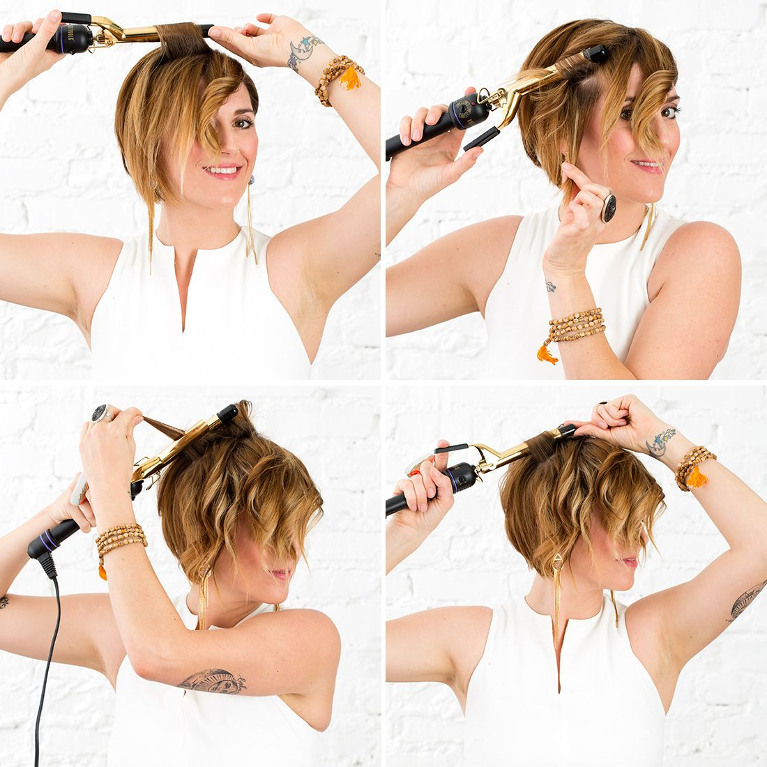 Pixie Waves: How to Curl Short Hair #curlshorthair