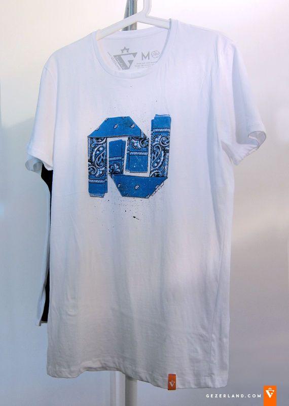 White Mens Womens T Shirt Israel Shekel Hadash Symbol Bandana