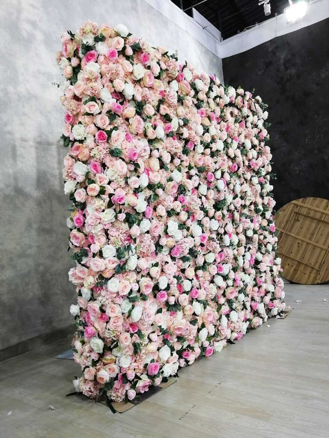 Perfectly Pink Flower Wall Flower Wall Rental Flower Wall Wedding Flower Wall Backdrop